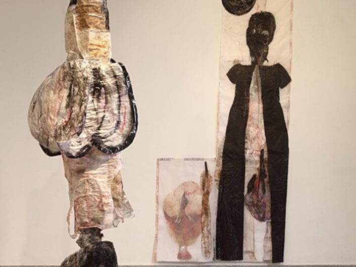 Ruthi Helbitz Cohen, ON THE EDGE, 2011, Installtion View, Nahum Gutman Museum, Tel-Aviv, Israel