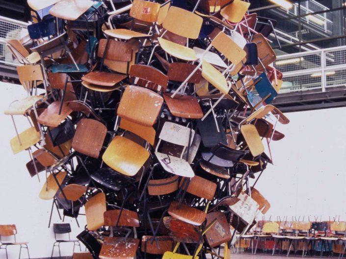 Maelstrom, 2006, installation, chairs