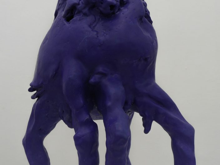 Veronika Witte, GHOSTED BODY (BLUE-VIOLET), 2016, ceramic, 45 x 30 x 30 cm