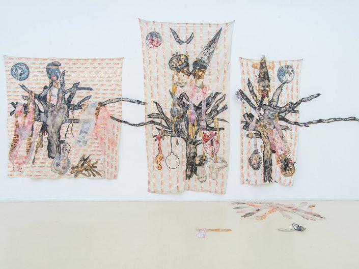 Ruthi Helbitz Cohen - VEIL OF TEARS, 2015, Installation View, Herzliya Museum, Israel