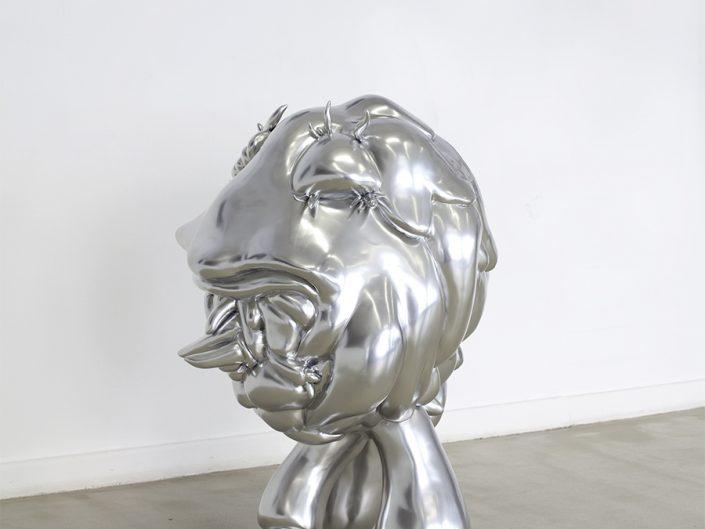 Veronika Witte, LIQUID IDENTITY BIOFACT 2, 2011, ø 85 cm x 115 cm, acryl, chrome laquer