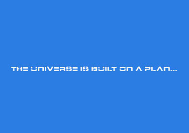THE UNIVERSE IS BUILT ON A PLAN