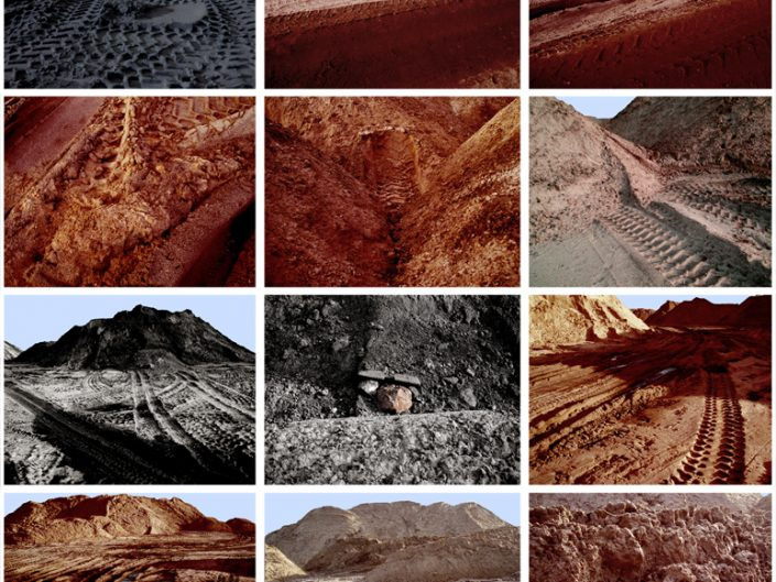Franziska Rutishauser BERLIN SAND MOUNTAINS, photography series of 83 pictures, 2013, 12 lightboxes, 136 x 135 cm