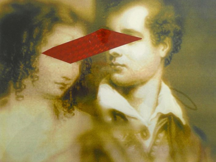 Sara Berti, Teresa and Lord Byron, 2014, collage on digital print, 50 x 70 cm