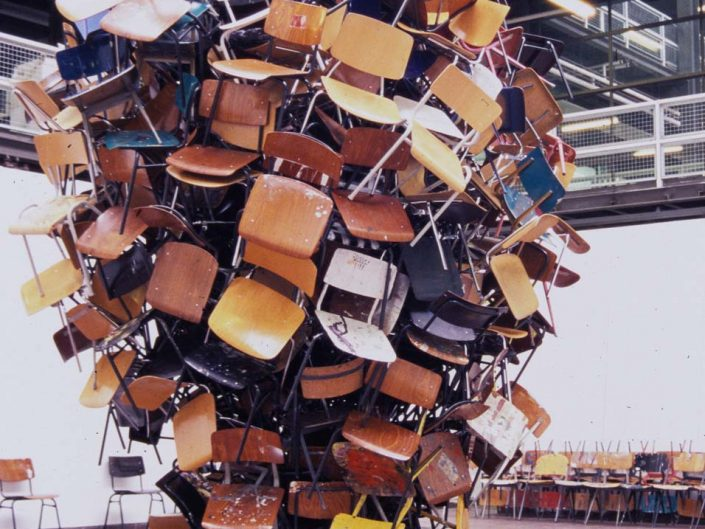 Maelstrom, 2006, installation, chairs